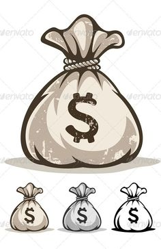 Full sack with money drawing bag, outline drawings, vector clipart, vector pattern, Tattoo Outline, Outline Drawings, Money Bag Tattoo, Dollar Tattoo, Tattoo Filler, Money Logo, Gangster Tattoos, Arte Hip Hop, Drawing Bag