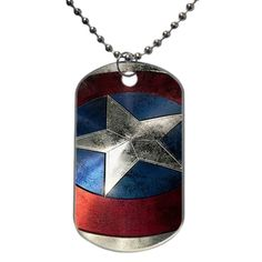 Captain America Shield Dog Tag
