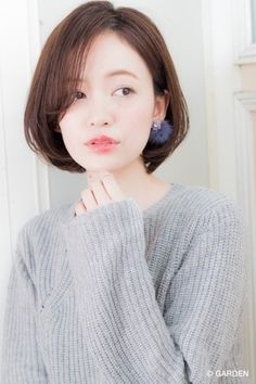 The latest hair catalog proposed by GARDEN - New Site Korean Hairstyles Women, Short Bob Hairstyles, Latest Hairstyles, Korean Short Hair, Shot Hair Styles, My Hair, Beauty Hacks, Hair Cuts, Hair Beauty