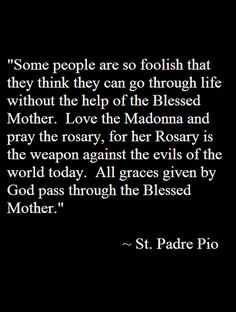 DON'T GO THROUGH LIFE WITHOUT THE HELP OF YOUR MOTHER! ALL GRACES GIVEN BY GOD PASS THROUGH HER!