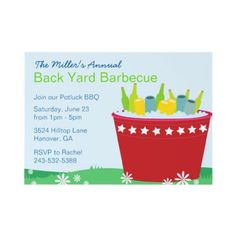 Summer Backyard Barbecue Party Invitations by paperdotz, BBQ, Cookout Party Invite, possible family reunion invite Garden Party Games, Party Invitations, Invites, Party Themes, Party Ideas, 21st Birthday, Invitation Design, Party Planning, Barbecue