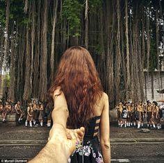 photographer Murad Osmann's girlfriend leads him throughout their travels
