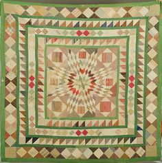 Wild Goose Chase Quilt, American, 19th century, seen at auction