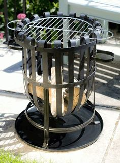 Vancouver Large Round Garden Firebasket Barbeque By La Hacienda  http://www.ebay.co.uk/itm/Vancouver-Large-Round-Garden-Firebasket-Barbeque-By-La-Hacienda-/252295203722?hash=item3abdf74b8a:g:4M0AAOSwll1Wygso