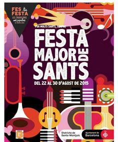 Cartel Festa Major de Sants BARCELONA 2015  (22 al 30 de Agosto)