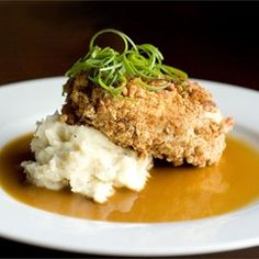 Bourbon Pecan Chicken | Chicken breasts are coated in a pecan breading, and fried in a skillet. Then a rich bourbon sauce is poured over them before serving. This is a fabulous recipe that my Mother gave me from a upscale restaurant in New York. It is to die for. ENJOY!!