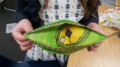 Folded Dragon Eyes Lesson - kids loved. A Space to Create