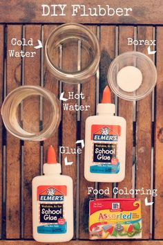 DIY Flubber - love this flubber - it doesn't stick to anything and it doesn't leave a residue.