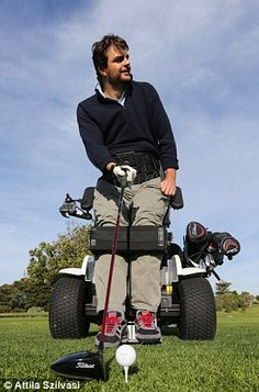 James Gribble, C4-5 quad from Australia, returns to golf using the Paragolfer. >>> See it. Believe it. Do it. Watch thousands of SCI videos at SPINALpedia.com
