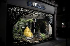 diesel window display by Kyle Bean
