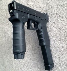 glock Note u have to get a tag to have handle in the front, u made it a SBR in the eyes if the ATF Don't get your but in trouble , play by rules and pay the $200 tag