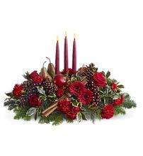 Joyful & Triumphant Christmas Centerpiece, Allen's Flower Market of Reseda - Christmas Flowers, Gifts & Centerpieces.  http://www.allensflowermarketonline.com/joyful-triumphant/