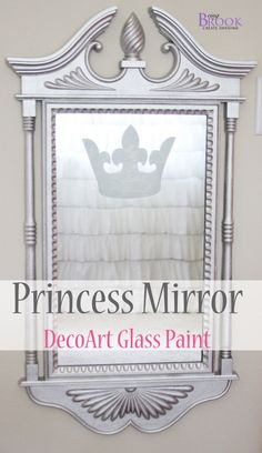 Princess Mirror with DecoArt Glass paint from BeingBrook