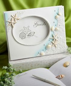This Finishing Touches Collection beach themed wedding guest book will make a great first impression on your family and friends. Have a lasting record of the special people who shared in your special day with this beach themed wedding guest book. Wedding Reception Food, Beach Wedding Reception, Beach Wedding Favors, Wedding Guest Book, Wedding Themes, Wedding Centerpieces, Beach Weddings, Nautical Wedding, Wedding Ceremony