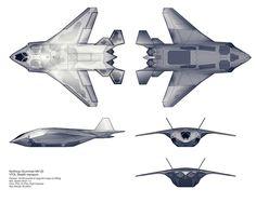 Northrop-Grumman MV-35 VTOL Stealth Transport by Kemp Remillard | Design | 2D | CGSociety