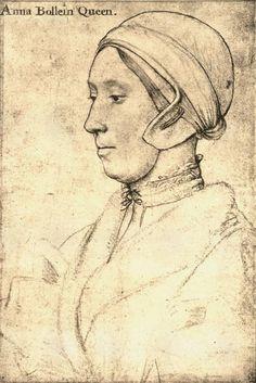Anne Boleyn, second wife of Henry VIII and mother of Elizabeth I - drawing by Hans Holbein Tudor History, British History, Art History, History Posters, Asian History, History Facts, Los Tudor, Tudor Era, Elisabeth I
