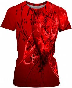 Red Heart Dubstep Trance Custom Rave Rebel Revolution Style Women's Top by Willy Badu.