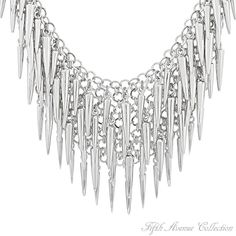 Rhodium Neckpiece - A Little Wild - Australia - Fifth Avenue Collection - Jewellery that changes the way you see fashion Crystal Jewelry, Wire Jewelry, Jewelery, Fifth Avenue Collection, Toe Rings, Ring Bracelet, Anklets, Jewelry Collection, Fashion Jewelry