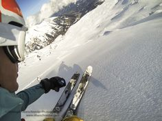 First Person View Powder Skiing by Christoph Oberschneider on 500px
