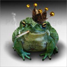 Cooler Froschkönig von Christine Gerhardt als Poster oder Leinwand