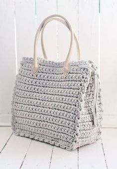Big nude bag for work Shopper bag Boho big bag Elegant bag Tote bag Everyday women's bag Bag with eco-leather handles - Crochet Bag Tutorials, Crochet Purse Patterns, Crochet Tote, Bag Patterns To Sew, Crochet Handbags, Crochet Purses, Free Crochet, Crochet Summer, Nude Bags