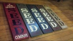 4-29-2015 SDV  Few new signs to add to our shop! Still need distressing... www.etsy.com / shop / uniqueprimtiques #customcolors #customsizes www.uniqueprimtiques.com #rusticdecor #primitivedecor #signs #primitivesigns #homedecor #handmade #customwoodworking