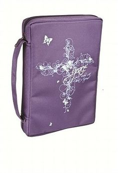 "[""Features:\r\n<\/u>6 5\/8\"" x 9 1\/2\"" x 2\""<\/li>Rubber-printed\r\n<\/li>Zipped mesh interior pocket\r\n<\/li>Pen loop\r\n<\/li>Exterior slip pocket<\/li><\/ul>""] $19.99 Bible Bag, Bible Cases, Christian Art Gifts, Slip, Purple, Cover, Mesh, Bags, Faith"