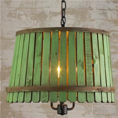 Paint stick light fixture. That would make a cute lampshade