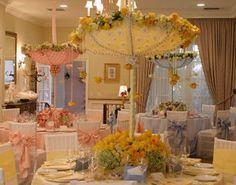 centros de mesa con sombrillas para fiestas y eventos la caleñita cali