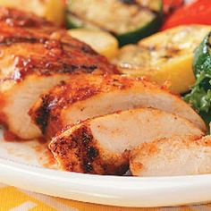 Spicy Barbecued Chicken... Great with corn and coleslaw for a low carb meal
