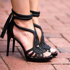 75c1557598 Sommer, Schwarze Pumps, Hochhackige Schuhe, Sexy Fersen, Schwarze Sandalen,  Frauenschuhe,