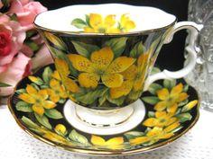 ROYAL ALBERT TEA CUP AND SAUCER rose of sharon TEACUP