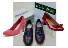 """""""Dataran Pahlawan Taylor Spring Burgundy"""" by we-enjoy on Polyvore featuring Clarks, women's clothing, women, female, woman, misses and juniors"""