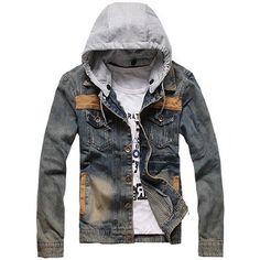 Mens Washed Denim Hoodie Motorcycle Jacket Detachable Hooded Jean Coat, http://www.amazon.com/dp/B00HNOGXVQ/ref=cm_sw_r_pi_awdm_5PdTtb1ZHREFY