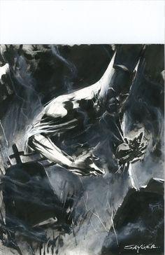 Stuart Sayger Batman Comic Art