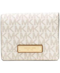 Michael Michael Kors Signature Jet Set Item Carryall Card Case - White