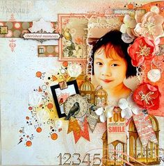 DT project by Irene Tan using the Swirlydoos October kit collection. Go to swirlydoos.com for the best scrapbooking kits in the industry!!!