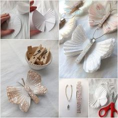 DIY papírový talíř Butterflies