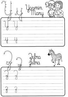 Atividade de caligrafia letras do alfabeto ilustrado - Como Fazer Kakashi Sharingan, Growth Mindset, Homeschool, Writing, Education, Reading, Tall Tales Activities, Preschool Literacy Activities, Handwriting Books