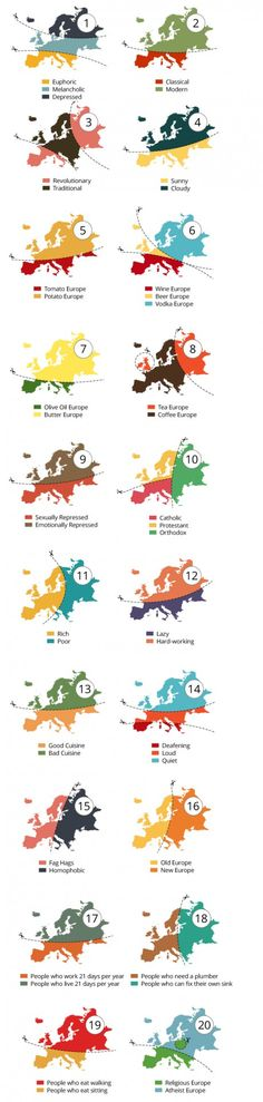 20 ways to slice Europe