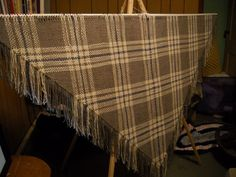 Wool from my sheep shawl woven on 7ft Triangle loom.