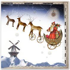 "Christmas cards - ""Camino entre los diamantes blancos"" (A way between the white diamonts), (Weg tussen de witte diamanten)"