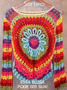 crochelinhasagulhas: Sorteio de uma blusa em crochê