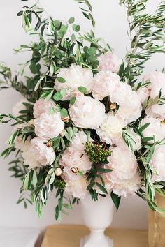 Peonies and Olive Branch