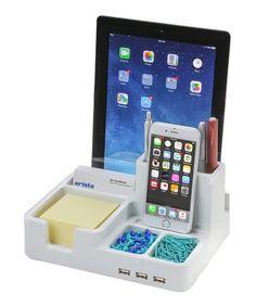 Another great find on #zulily! White USB Desk Organizer Docking Station #zulilyfinds