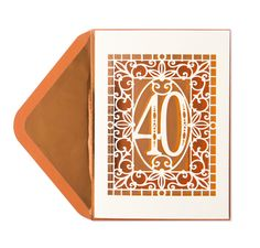 Happy 40th Laser-Cut