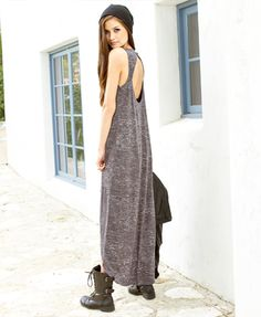 i love the flowy dress with the chunky combat boots