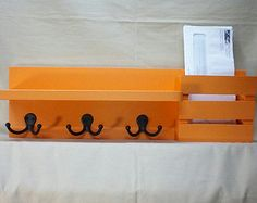 entryway organizer key hooks mail organizer by