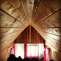 inside the tiny house - view from loft