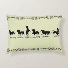 Dachshund Silhouette Pillow   blonde dachshund puppy, cute dachshunds, dachshund mug #dachshundsinpublic #dachshundsmaketheworldbetter #dachshundsofnewyork